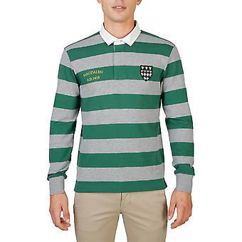 Oxford University Original Men Fall/Winter Polo - Green Color 55695