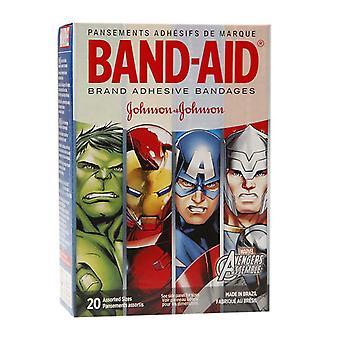 Band-Aid Kinder Bandagen, Marvel Avengers, sortierte Größen, 20 ea