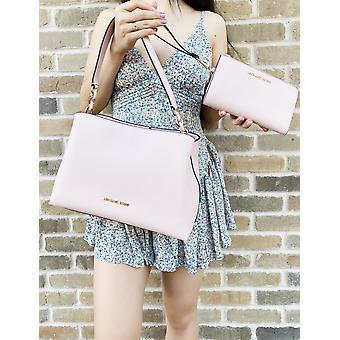 Michael kors sofia large satchel blossom+ double zip wristlet wallet