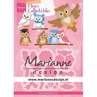 Marianne Design Collectables Cutting Dies - Eline's Owl Col1475 112.5x85 mm