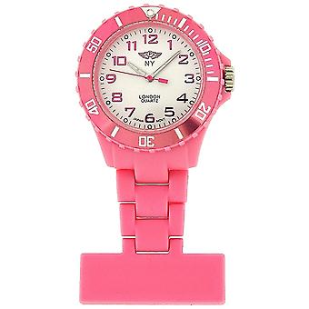 Prince London Rubberised Pink Rotating Bezel Unisex Nurses Fob Watch PI-2027