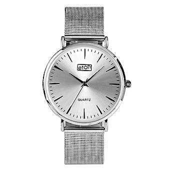 Eton Unisex St Steel Mesh Bracelet Fashion Watch analogue 41mm classic case 3279