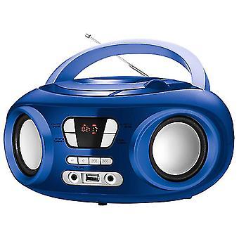 Radio CD Bluetooth MP3 9&; BRIGMTON W-501 USB Blue
