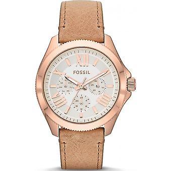 Fossiele AM4532 watch - leer goud roze vrouw