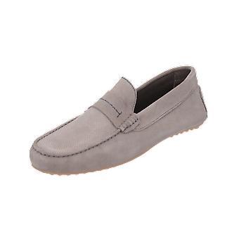 Burton Menswear London HOPKINS DRIVING LOAFER Men's Loafer Grey Slip-Ons
