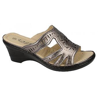 Eaze Womens/Ladies Slip On Wedge Mules