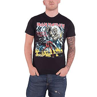 Iron Maiden T camisa número do álbum animal cobrir logotipo oficial Mens novo preto
