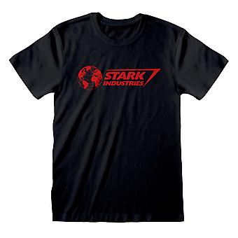 Marvel Avengers Assemble Stark Industries Logo Women-apos;s Boyfriend Fit T-Shirt (fr) Marchandises officielles