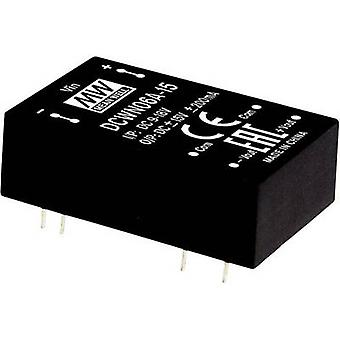 Mean Well DCWN06A-15 DC/DC converter (module) 200 mA 6 W Nr. uitgangen: 2 x