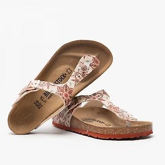 Birkenstock Gizeh 1015998 (reg) Dames Birko-flor Toe Post Sandals Boho Flowers Earth Red