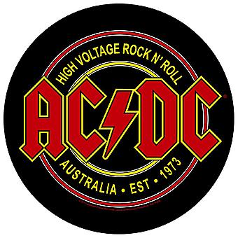 AC/DC Back Patch High Voltage Australia Rock N Roll Official New Circular 28cm
