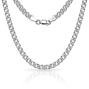 925 Sterling Silver 10 Inch X 4.0 mm Rombo Chain Anklet Italian Jewelry Gifts for Women