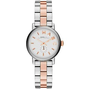 Marc Jacobs MBM3331 Baker White Dial Two-tone Ladies Watch