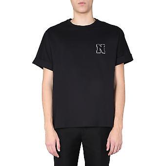 Neil Barrett Bjt738bn595s0101 Miesten & apos;s Musta Puuvilla T-paita
