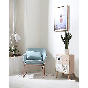 Sirius Wood Bedside, White in MDF 47x32x62 cm