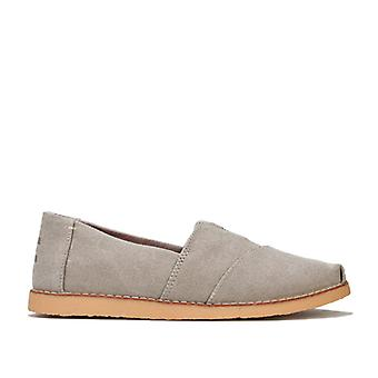 Women's Toms Washed Canvas Crepe Espadrille Pumps in Grey