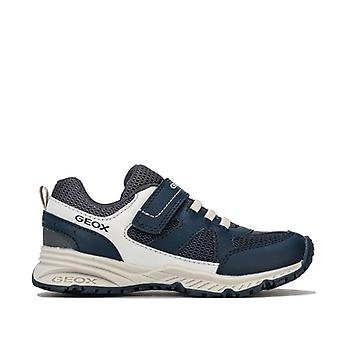 Boy's Geox Junior Bernie Trainers in Blue