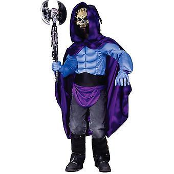 Mörkt skelett barn kostym