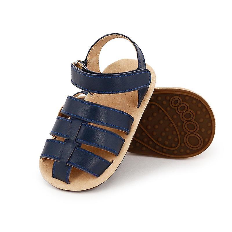 Skeanie Ziggie Leather Pre-walker Sandals In Navy