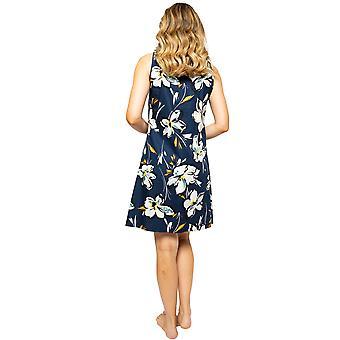 サイバージャミーアレクサ4501女性&アポス;sネイビーブルーフローラルプリントナイトドレス