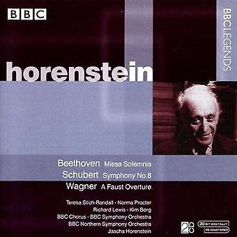 L.V. Beethoven - Beethoven: Missa Solemnis; Schubert: Symphony No. 8; Wagner: A Faust Overture [CD] USA import