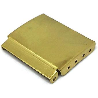 Watch bracelet extenders for 3 fold clasp covers gold plated size 12mm to 22mm