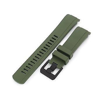 Strapcode orologio in gomma cinghia 22mm crafter blu - cb10 militare verde gomma curva lug fascia orologio per seiko skx007 fibbia nera