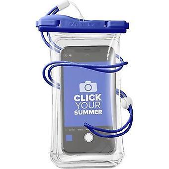 Cellularline VOYAGER20B Pouch (+ vision panel) Blue, Transparent