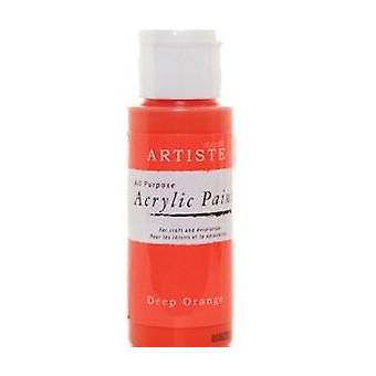 Orange docrafts Artiste All-Zweck-Acryl Handwerk Farbe - 59ml