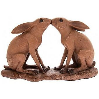 Animal Kingdom Kissing Hares Ornament