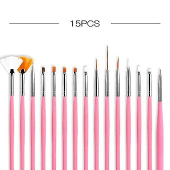 Nail Brushes Set For Manicure Diy Tool Set - 3d Gel Acrylic Brushes Liner Pen
