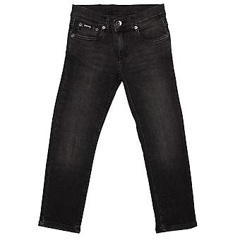 Boy's Money Junior Skinny Dollar Jeans in Black