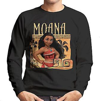 Disney Moana Floral Frame Homme-apos;s Sweatshirt