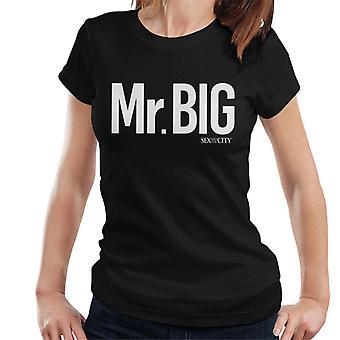 Sex & The City Mr Big White Text Women's T-Shirt
