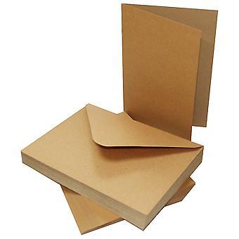 Craft UK Cards & Envelopes 5x7 Inch Kraft