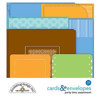 Doodlebug Design Party Time Cards & Envelopes