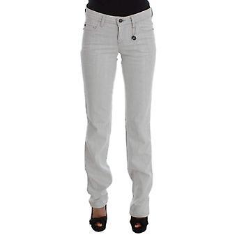 Gray Cotton Slim Fit Bootcut Jeans
