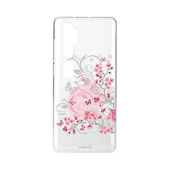 Coque Pour Xiaomi Mi Note 10 Souple Fleur Et Papillon