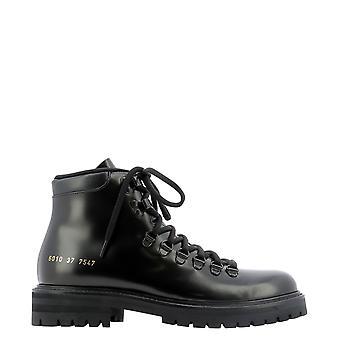 Common Projects 60107547 Women's Black Leather Enkellaarsjes