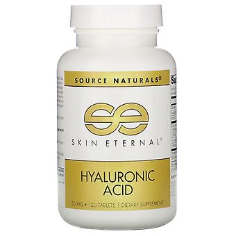 Source Naturals, Skin Eternal, Hyaluronic Acid, 50 mg, 120 Tablets