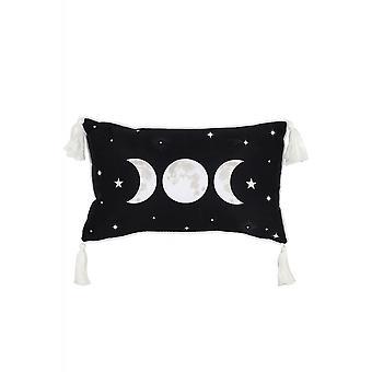 Gothic Homeware Rectangular Triple Moon Cushion