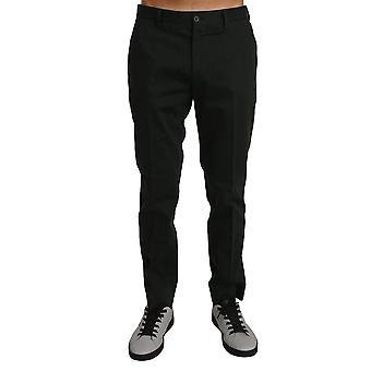 Dolce & Gabbana Gray Cotton Dress Formal Trousers Pants -- PAN6830640