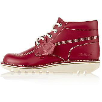 Kickers Women's Kick Hi Classic Shoes Red 71