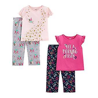 Simple Joys by Carter's Girls' Toddler 4-Piece Fleece Pajama Set, Fairy/Flora...