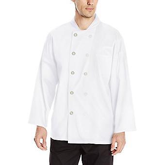 Chef-kok code mannen ' s klassieke katoen lange mouwen jas, wit, X-Small