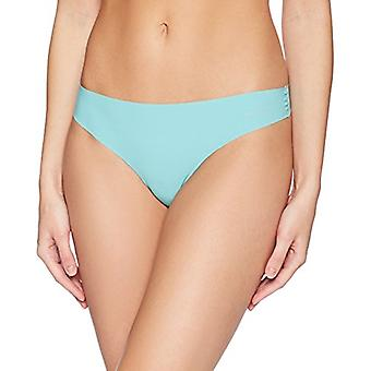 Brand - Mae Women's Sueded Infinity Edge Thong, 3 Pack, Bluestone/Cool Aqua/Peachskin, Medium