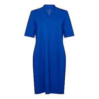 PENNY PLAIN Sapphire High Back V-Neck Dress