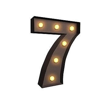 领头金属号码灯免费站立悬挂装饰 7 号