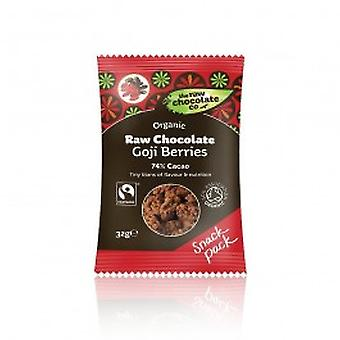 THE RAW CHOCOLATE COMPANY LTD - Raw Chocolate Goji Berries 28g x 12 Organic Fairtrade