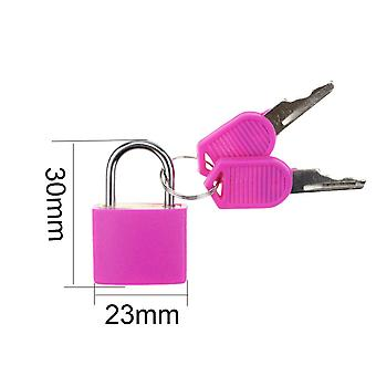 1pcs 30x23mm Small Mini Strong Steel Padlock With 2 Key For Travel Suitcase ,